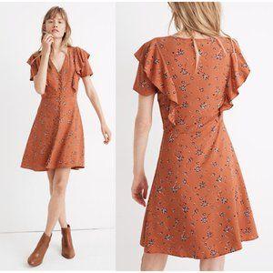 Madewell Flutter-Sleeve Button Dress